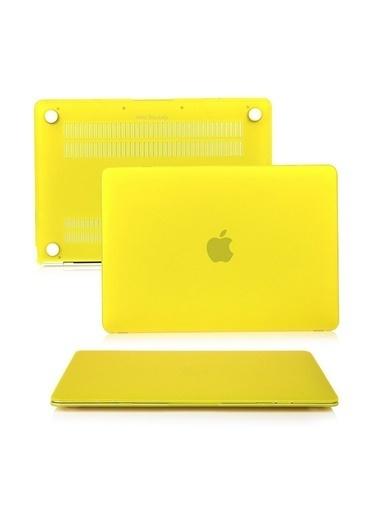 "Mcstorey MacBook Retina A1534 A1931 12"" Kılıf Kapak Koruyucu Hard Incase Mat Sarı"